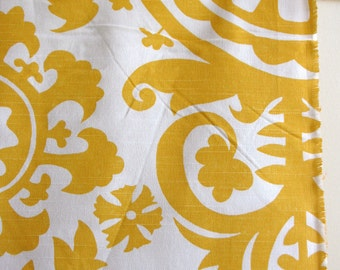 Suzani in Yellow -Home Decor Weight Fabric from Premier Prints - ONE FAT QUARTER
