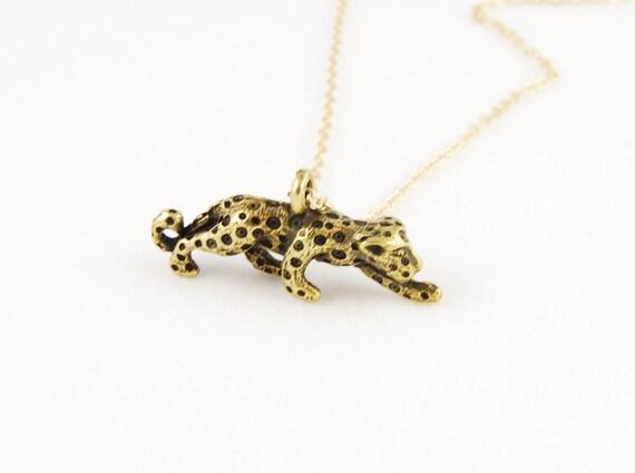 Leopard Necklace, Gold