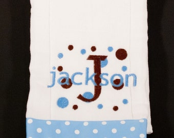 Personalized Burp Cloth Embroidered