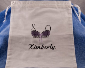 Monogrammed Lingerie Bag Personalized with Name - Perfect Bridal Shower Gift or Bridesmaids Gifts
