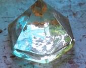 Beach Decor White Sea Glass Deck Prism by SEASTYLE