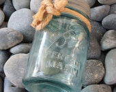 Vintage Aqua Blue Ball Perfect Mason Jar Coastal Style by SEASTYLE