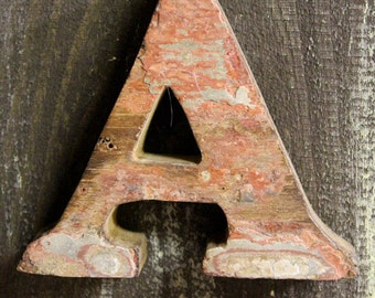 Beach Decor Letter A Vintage Style Nautical Wooden by SEASTYLE