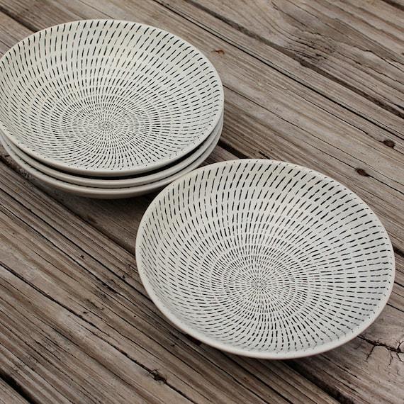 Nautical Vintage Three Ceramic Plates by Seastyle