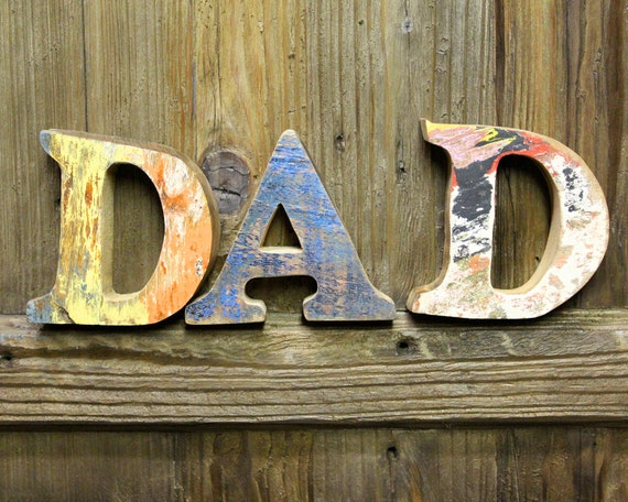 items similar to beach decor dad sign vintage style nautical wooden letters set by seastyle on etsy