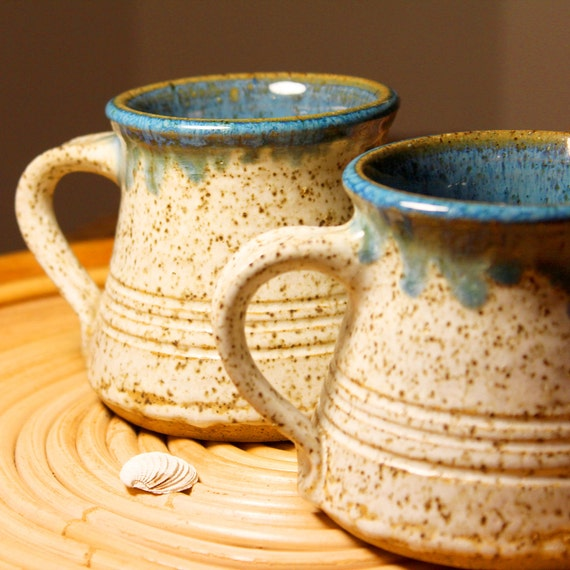 Beach Decor Vintage Mugs Nautical Style by SEASTYLE