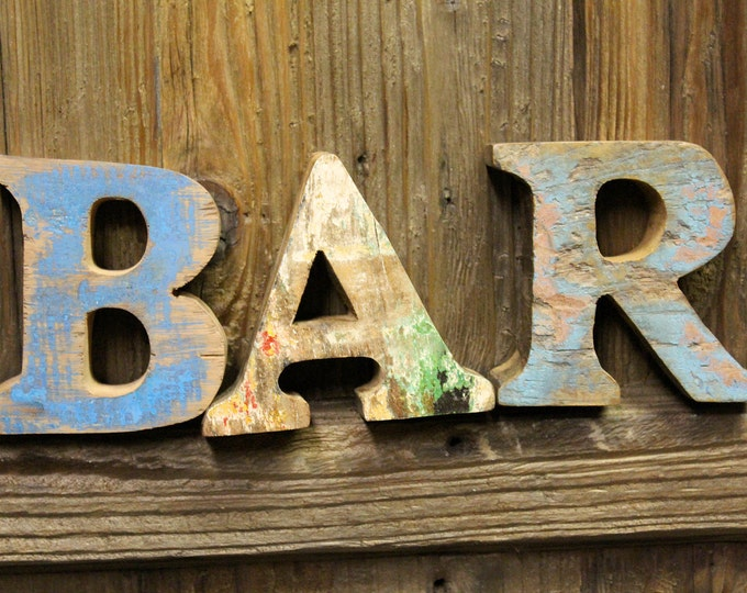 Beach Decor Vintage Style BAR sign Nautical Wooden by SEASTYLE