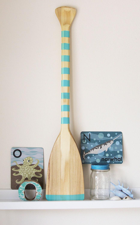 Beach Decor Paddle Caribbean Blue Wood Nautical By Seastyle