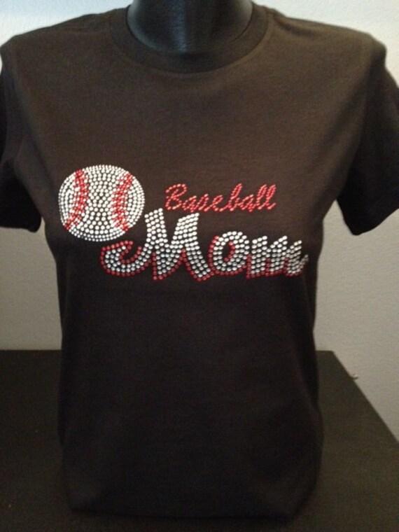 Baseball Mom Bling T-Shirt