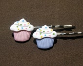 Reserved for JENPMORRILL Cupcake Hair Clips