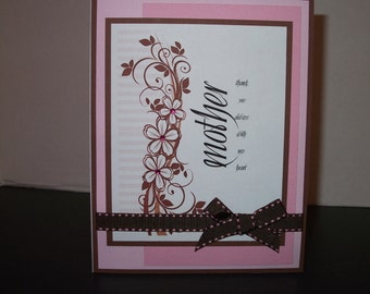 Pink & Brown Mother Card