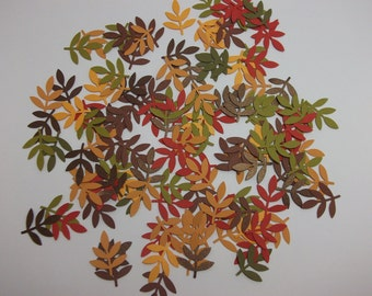 Autumn Leaves - Hand Punched Die Cut/Embellishments