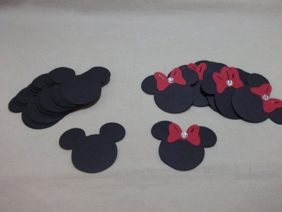 Mickey & Minnie Mouse Heads-Embellishments/Die Cuts