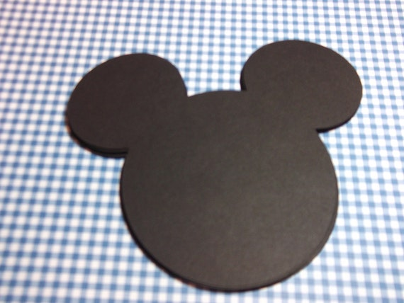 Mickey Mouse Silhouette Die Cut/Embellishment