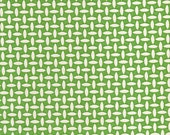 Denyse Schmidt Fabric--Katie Jump Rope--Green Basketweave--1/2 yard
