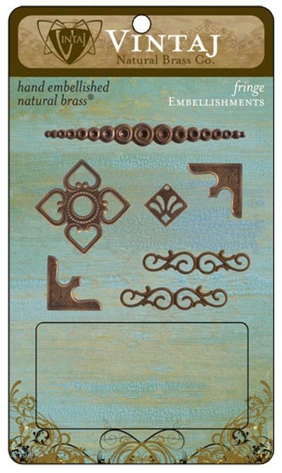 vINTAJ NATURAL BRASS - Fringe Set 7 pieces  only 1 left