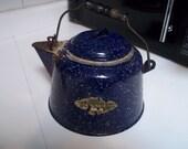 Rustic Fletcher Enamelware Tea/Coffeepot