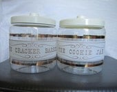 Set of Vintage Pyrex canisters
