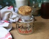 """German 50's Spice Jar """"Scharfe Sachen"""""""