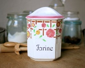 Antique Flour Faience Cannister from Belgium