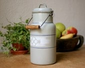 Rare 1930 Enamel Milk Churn from Germany, Art Deco Style