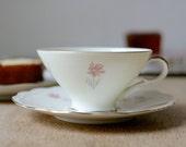 50's Daisies Bavaria Cup and Dessert Plate by Seltmann Weiden