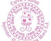 Custom Save The Date Rubber Stamps-Great Engagement Gifts