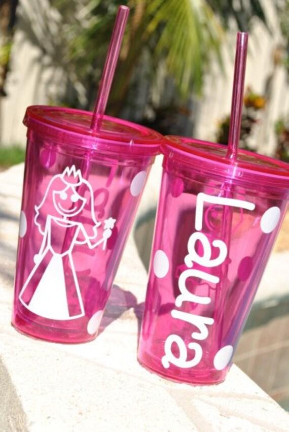 Princess-girl-ballerina-custom designed tumblers-Great Gift