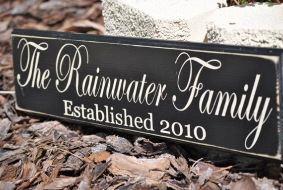 Family Sign-Personalized Established Family Sign-Great for Weddings