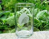 Wine or Juice Glass with Leaf