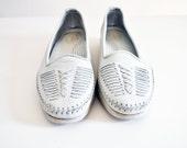 Dexter Soft Leather Weave Womens Shoes Comfort Classics