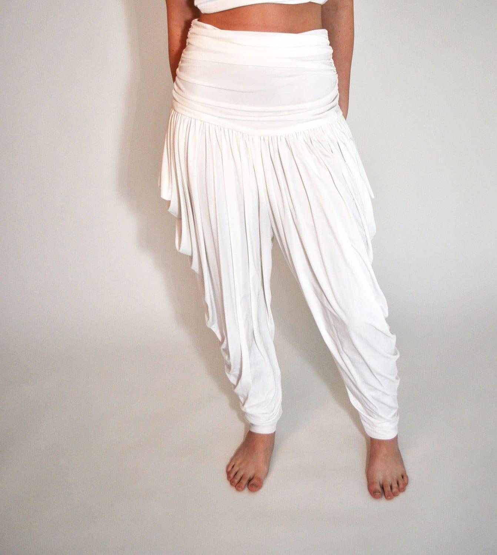 White Harem Pants 1980s Electra Casadei White Dressy Fabulous
