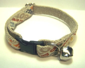 Handmade Hemp Cat Collar -Kitty Gaffiti-