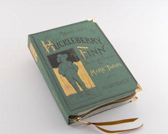 Mark Twain Huckleberry Finn book Clutch