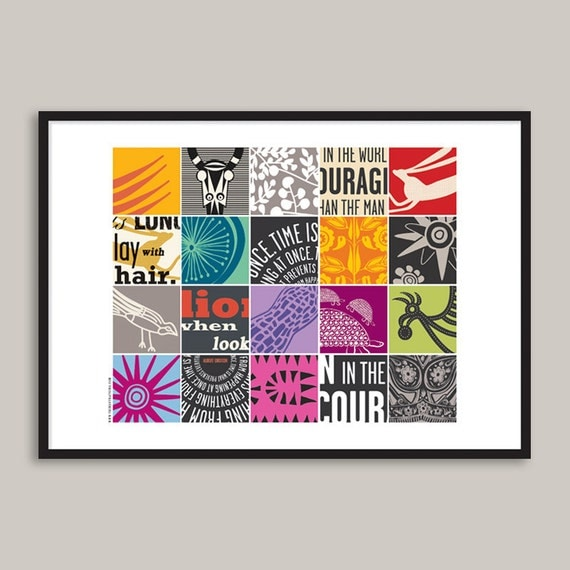 Things That Sing MixTape No. 1 - Limited Edition Archival Print (12x17 inch) - A3 (12x17 inch) - Giclée Print - Museum Quality Print