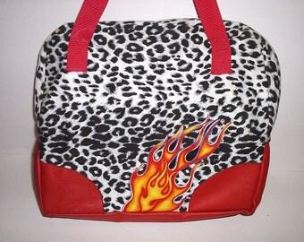 Hot Rod handbag inspired by bowling bag