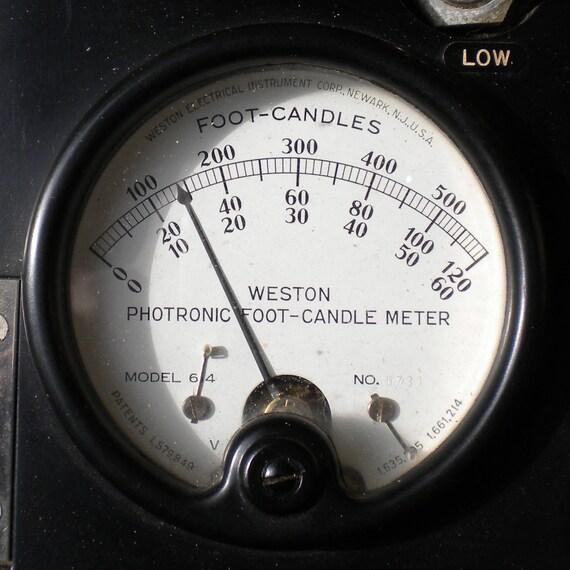similar to light meter model 614 vintage weston foot candle on etsy. Black Bedroom Furniture Sets. Home Design Ideas