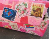 Keepsakes Box - Handmade Paper - Upcycled Postage Stamps