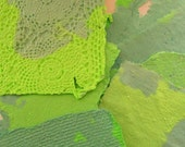 Handmade Paper - Recycled -  Lime Green & Baby Blue