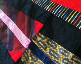 Art Quilt - Neckties Quilt - Handmade in Hawaii
