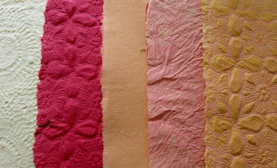 Handmade Recycled Paper - Reserved for Shannon
