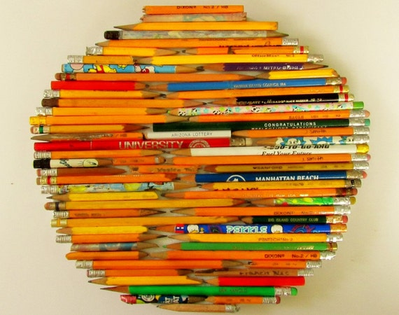 Pencil Art - Upcycled Pencils - reserved