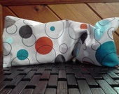 Lavender and Flax Seed Yoga Eye Pillow, Washable Cover, Relaxation Spa Pillow, Retro Circles