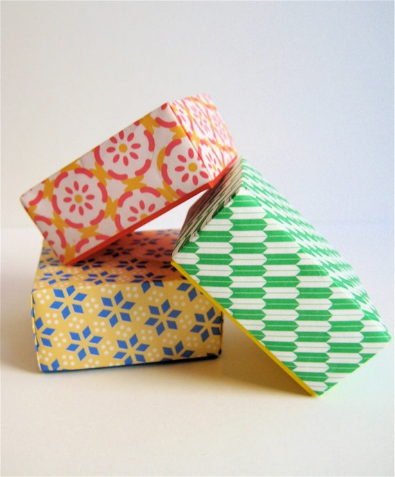Origami Paper Boxes - Assortment of 5
