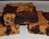 "cookie and brownie mix bar, GLUTEN FREE, the ""It's Pat"" Bar, mixture of cookie and brownie baked together"