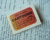 Cracker Jack  Book - How to draw cartoons - 1974 - ONE page falls out - supplies -