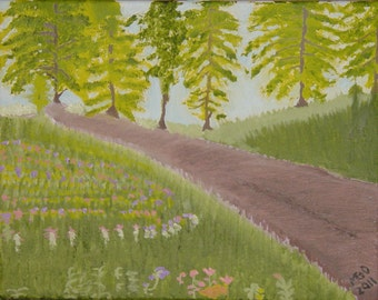 Serenity Path Original Oil Painting