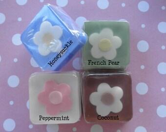 Soap Favors- 12 Custom Flower Soaps