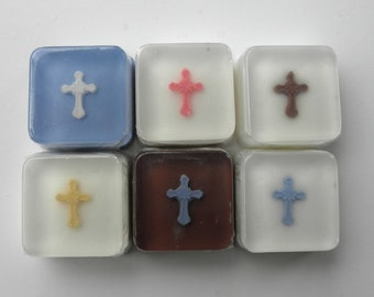 12 Baptism Cross Favors