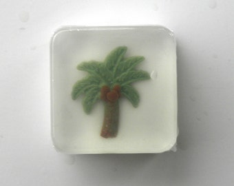 Palm Tree Soap Favors for hawaiian beach tropical party or wedding